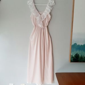 Vintage pink nightgown lingerie